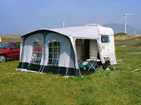 Caravan camping of Lakeland Outdoor Club naturist site