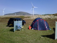 Camping at Lakeland Outdoor Club naturist site